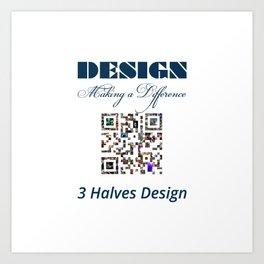 3 Halves Design Art Print