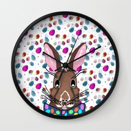 Easter Bunny Easter Eggs Wall Clock