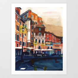 Campo de Fiori Rome Art Print