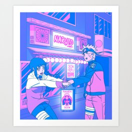 Anime Love Story (Tokyo Nights, Ramen Shop, Noodle House) Art Print