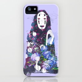 No Face in the Garden (Purple) iPhone Case
