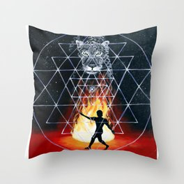 Danza del Jaguar Throw Pillow