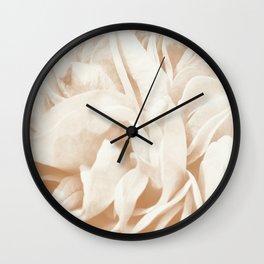 Cafe Au Lait Dream #2 #rose #floral #decor #art #society6 Wall Clock