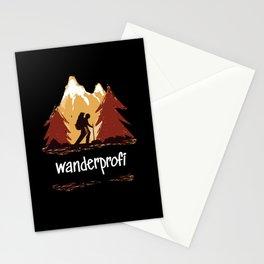 Wanderprofi Shirt Gift Idea Hiking Stationery Cards