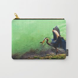 Great Blue Heron with Herring Carry-All Pouch