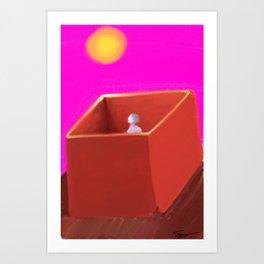 The Box Life Art Print