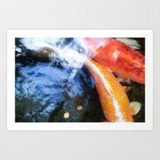 Koi Abstraction 004 Art Print