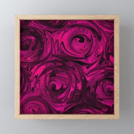 Berry Fuchsia Roses Framed Mini Art Print
