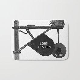 Stop Look Listen Bath Mat