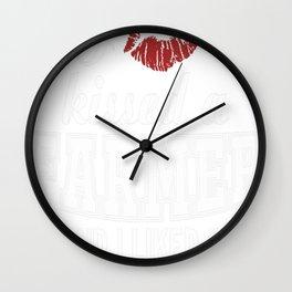I kissed a FARMER Wall Clock