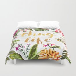 Thug Life - white version Duvet Cover