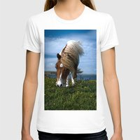 pony T-shirts featuring Shetland pony by Paul J Davis Photography