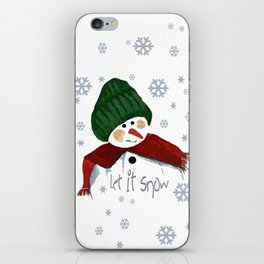 Let's build a snowman, let it snow iPhone Skin
