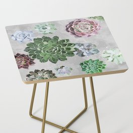 Simple succulents Side Table
