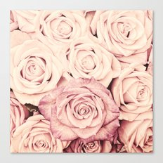 Some people grumble I Floral rose roses flowers pink Canvas Print