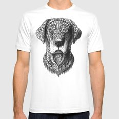 Labrador LARGE Mens Fitted Tee White