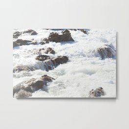 White water, dark rocks Metal Print