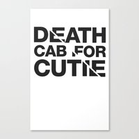 death cab for cutie Canvas Prints featuring Death Cab For Cutie Typography Tee by Eddie Burke