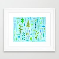 botanical Framed Art Prints featuring Botanical by messy bed studio