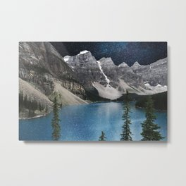 Midnight Moraine Metal Print