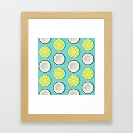Lime and Coconut Pattern Framed Art Print