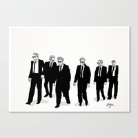 reservoir dogs Canvas Prints featuring Reservoir Dogs. by AmyLianneMuir