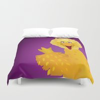 muppets Duvet Covers featuring Big Bird - Muppets Collection by Bryan Vogel