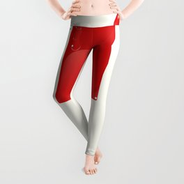 Bright Red Lolly. Leggings