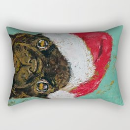 Santa Pug Rectangular Pillow