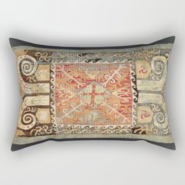 Kaitag 18th Century Caucasian Embroidery Print Rectangular Pillow