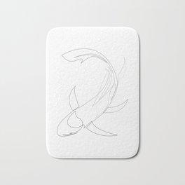 koi - one line fish art Bath Mat
