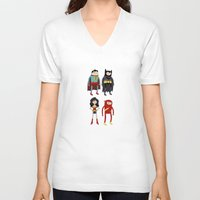 league V-neck T-shirts featuring Adventure League by randallmaynard