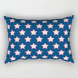 Patriotic Stars on Blue Rectangular Pillow