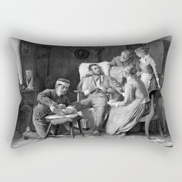 Wounded Civil War Soldier Rectangular Pillow