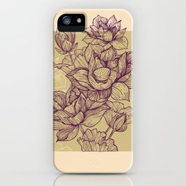 Lotus flower colors iPhone Case