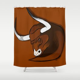 The brown bull Shower Curtain
