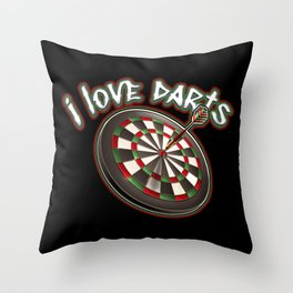 I love darts Throw Pillow