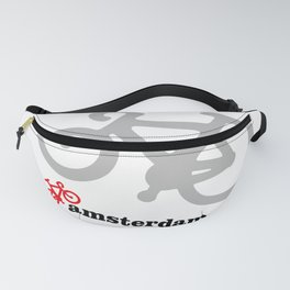 I Love Amsterdam - Red Bike Fanny Pack