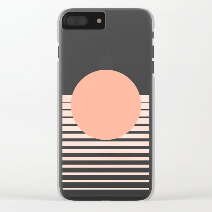 The Sweet Life Collection - Peach Coral Sun Gradient Clear iPhone Case