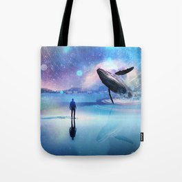 Walking with Whales Tote Bag