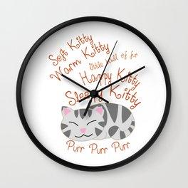 Soft Kitty Warm Kitty Sleeping Wall Clock