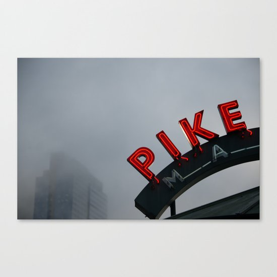 Pike Place Morning Canvas Print