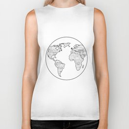 Hello Multi-linguistic World Biker Tank
