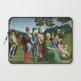Raphael - Saint John the Baptist Preaching Laptop Sleeve