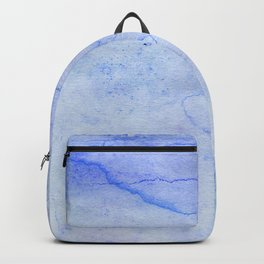 Hand painted blue green abstract watercolor pattern Backpack
