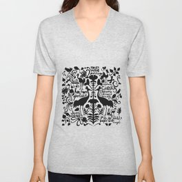 Wycinanki Folk Art Unisex V-Neck