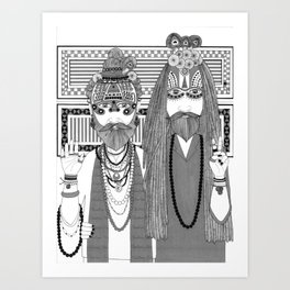 Spiritual People Art Print