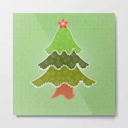 New year, cristmas tree  Metal Print