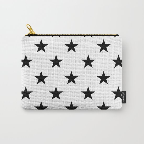 Stars (Black/White) Carry-All Pouch