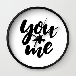 You and Me | Typography Wall Clock
